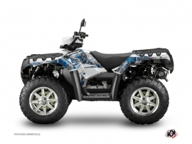 Kit Déco Quad 60th Anniversay V2 Polaris 550-850-1000 Sportsman Forest Gris Bleu
