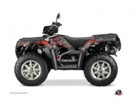 Kit Déco Quad Vintage Polaris 550-850-1000 Sportsman Forest Noir Rouge