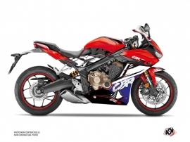 Honda CBR 650 R Street Bike Nineties Graphic Kit Red