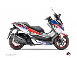 Honda Forza 125 Maxiscooter Run Graphic Kit White