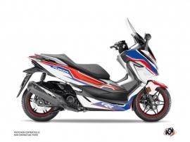 Honda Forza 300 Maxiscooter Run Graphic Kit White