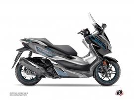 Honda Forza 125 Maxiscooter Challenge Graphic Kit Black