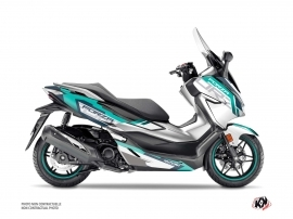 Honda Forza 125 Maxiscooter Challenge Graphic Kit White
