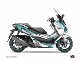 Honda Forza 300 Maxiscooter Challenge Graphic Kit White