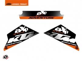 Graphic Kit AXP Skid Plates Moto Raster KTM 790-890 Adventure Black White