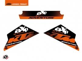 Graphic Kit AXP Skid Plates Moto Raster KTM 790-890 Adventure Black Orange