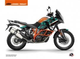 Kit Déco Moto Kontrol KTM 1290 Super Adventure R Orange Blanc