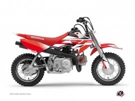 Honda 50 CRF Dirt Bike Nasting Graphic Kit White Red