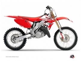Honda 125 CR Dirt Bike Nasting Graphic Kit White Red