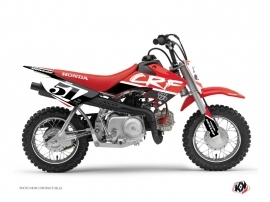 Honda 50 CRF Dirt Bike Rask Graphic Kit Black