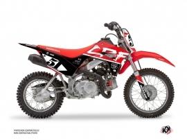 Honda 110F CRF Dirt Bike Rask Graphic Kit Black