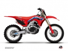 Kit Déco Moto Cross Works Honda 250 CRF Bleu