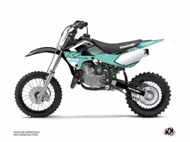 Kawasaki 65 KX Dirt Bike Claw Graphic Kit Turquoise