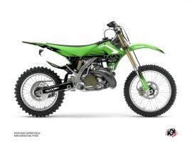 Kawasaki 250 KX Dirt Bike Claw Graphic Kit Green