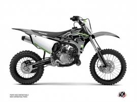 Kawasaki 85 KX Dirt Bike Live Graphic Kit Grey