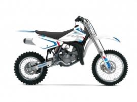 Suzuki 85 RM Dirt Bike Label Graphic Kit White