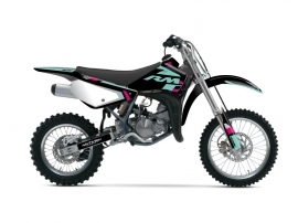 Suzuki 85 RM Dirt Bike Label Graphic Kit Turquoise