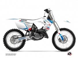 Kit Déco Moto Cross Label Suzuki 250 RM Blanc