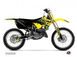 Suzuki 125 RM Dirt Bike Zero Graphic Kit Yellow
