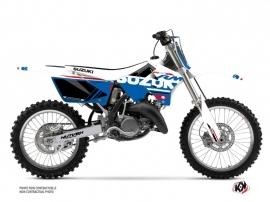 Suzuki 125 RM Dirt Bike Grade Graphic Kit White