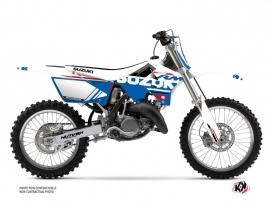 Kit Déco Moto Cross Grade Suzuki 250 RM Blanc