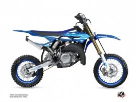 Yamaha 65 YZ Dirt Bike Outline Graphic Kit Blue