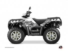 Polaris 550 Sportsman Forest ATV Predator Graphic Kit White