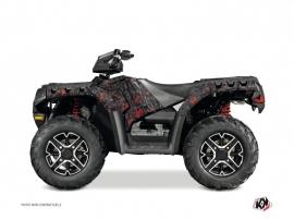 Polaris 550 Sportsman Forest ATV Camo Graphic Kit Black Red