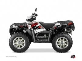 Polaris 850 Sportsman Forest ATV Visor Graphic Kit Red