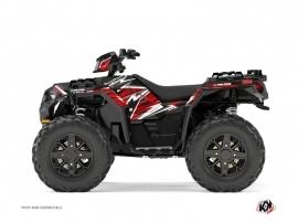 Polaris 850 Sportsman Forest ATV Jungle Graphic Kit Black Red