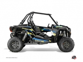 Kit Déco SSV Abstract Polaris RZR 1000 Bleu Jaune