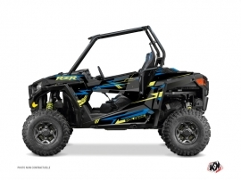 Polaris RZR 900 UTV Abstract Graphic Kit Blue Yellow