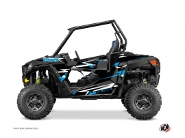 Polaris RZR 900 UTV Abstract Graphic Kit Black Blue