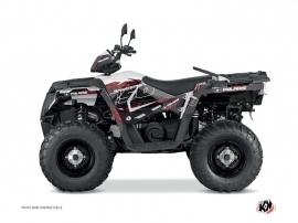 Polaris 450 Sportsman ATV Action Graphic Kit Red