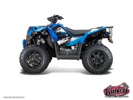 Kit Déco Quad Action Polaris Scrambler 850-1000 XP Bleu FULL