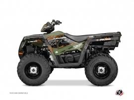 Polaris 570 Sportsman Touring ATV Action Graphic Kit Green