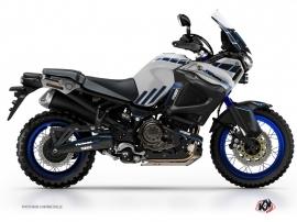 Kit Déco Moto Adventure Yamaha XTZ 1200 Super Ténéré World Crosser Bleu Gris