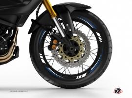 Kit Déco Tour de jantes Moto Trail Adventure Yamaha XTZ 1200 Super Ténéré World Crosser Noir Bleu