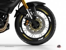 Kit Déco Tour de jantes Moto Trail Adventure Yamaha XTZ 1200 Super Ténéré World Crosser Noir Jaune