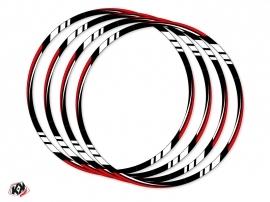Graphic Kit Wheel decals Dirt Bike Trail Adventure Yamaha XTZ 1200 Super Tenere World Crosser Black Red