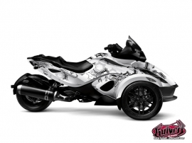 Can Am Spyder RS Roadster Aero Graphic Kit Grey