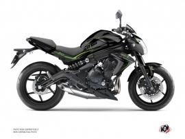 Kit Déco Moto Airline Kawasaki ER 6N Noir Vert