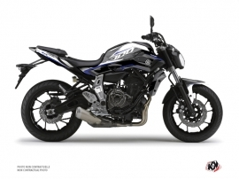 Yamaha MT 07 Street Bike Airline Graphic Kit White Blue