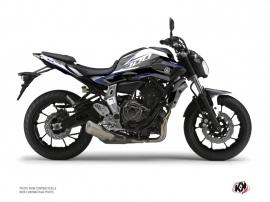 Kit Déco Moto Airline Yamaha MT 07 Blanc Bleu