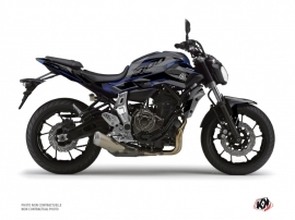 Yamaha MT 07 Street Bike Airline Graphic Kit Black Blue
