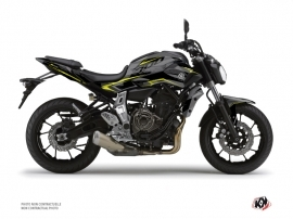 Yamaha MT 07 Street Bike Airline Graphic Kit Black Yellow