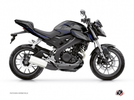 Yamaha MT 125 Street Bike Airline Graphic Kit Black Blue