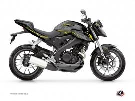 Kit Déco Moto Airline Yamaha MT 125 Noir Jaune