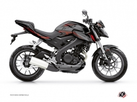 Yamaha MT 125 Street Bike Airline Graphic Kit Black Red