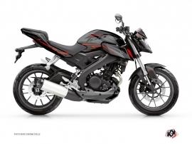 Kit Déco Moto Airline Yamaha MT 125 Noir Rouge